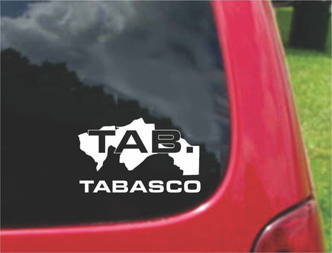Tabasco Mexico Outline Map Sticker Decal 20 Colors To Choose From.