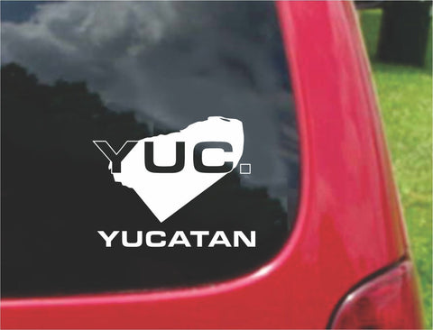 Yucatan Mexico Outline Map Sticker Decal 20 Colors To Choose From.