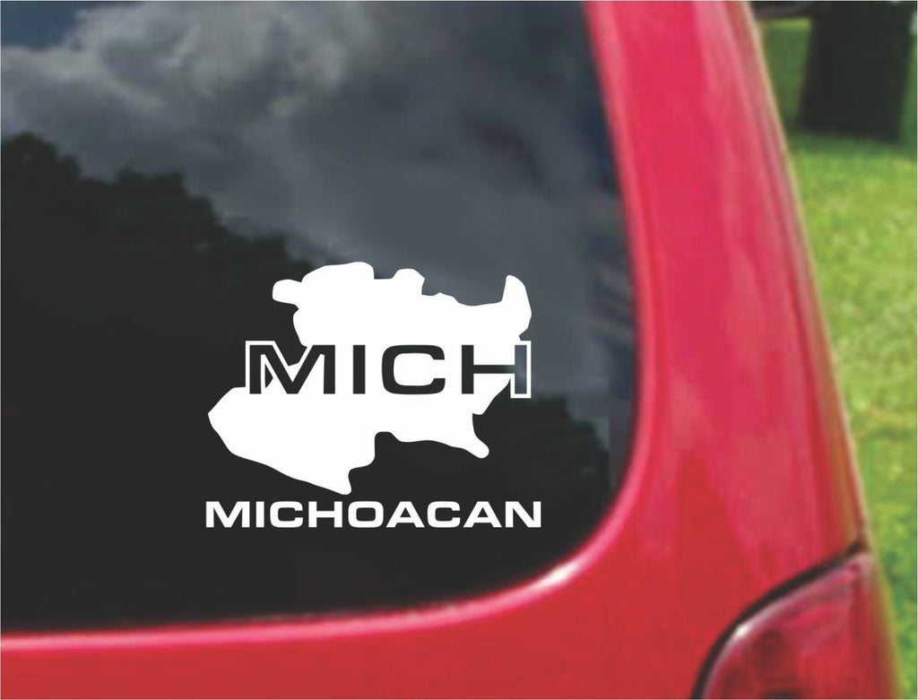 Michoacan Mexico Outline Map Sticker Decal 20 Colors To Choose From.
