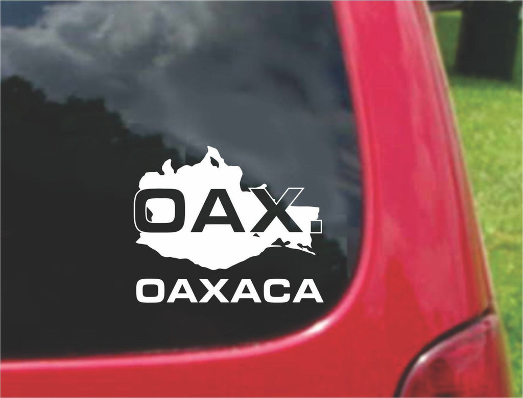 Oaxaca Mexico Outline Map Sticker Decal 20 Colors To Choose From.