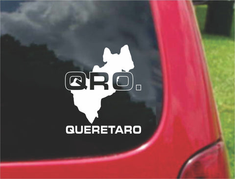 Queretaro Mexico Outline Map Sticker Decal 20 Colors To Choose From.