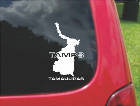 Tamaulipas Mexico Outline Map Sticker Decal 20 Colors To Choose From.