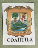 Coahuila Mexico. Coat Of Arms Decal Sticker Full Color/Weather Proof.