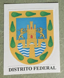 Distrito Federal Mexico. Coat Of Arms Decal Sticker Full Color/Weather Proof.