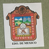 Estado de Mexico. Coat Of Arms Decal Sticker Full Color/Weather Proof.