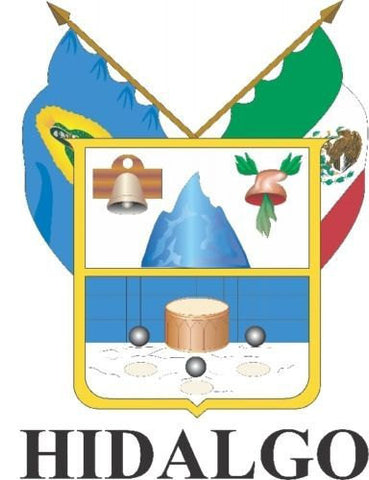 Hidalgo Mexico. Coat Of Arms Decal Sticker Full Color/Weather Proof.