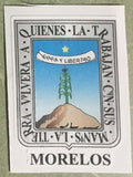 Morelos Mexico. Coat Of Arms Decal Sticker Full Color/Weather Proof.