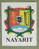 Nayarit Mexico. Coat Of Arms Decal Sticker Full Color/Weather Proof.