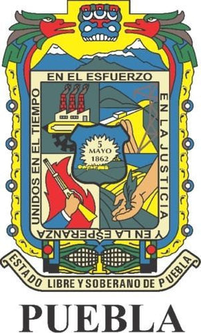 Puebla Mexico. Coat Of Arms Decal Sticker Full Color/Weather Proof.