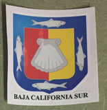Baja California Sur Mexico. Coat Of Arms Decal Sticker Full Color/Weather Proof.