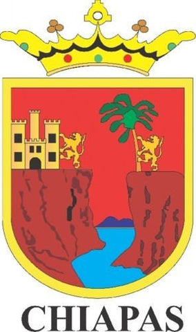 Chiapas Mexico. Coat Of Arms Decal Sticker Full Color/Weather Proof.