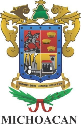 Michoacán Mexico. Coat Of Arms Decal Sticker Full Color/Weather Proof.