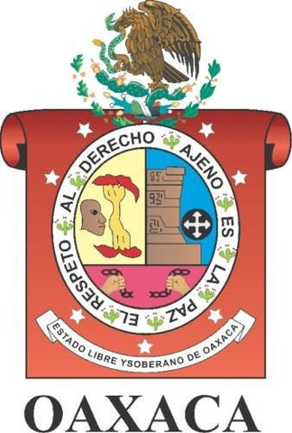 Oaxaca Mexico. Coat Of Arms Decal Sticker Full Color/Weather Proof.