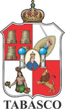 Tabasco Mexico. Coat Of Arms Decal Sticker Full Color/Weather Proof.