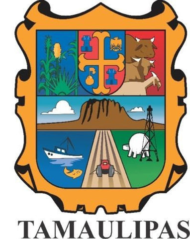 Tamaulipas Mexico. Coat Of Arms Decal Sticker Full Color/Weather Proof.