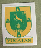 Yucatán Mexico. Coat Of Arms Decal Sticker Full Color/Weather Proof.