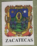 Zacatecas Mexico. Coat Of Arms Decal Sticker Full Color/Weather Proof.