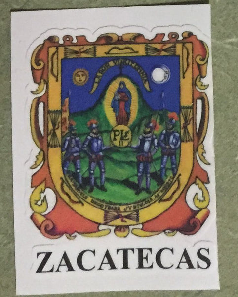 Zacatecas Mexico Coat Of Arms Decal Sticker Full Color