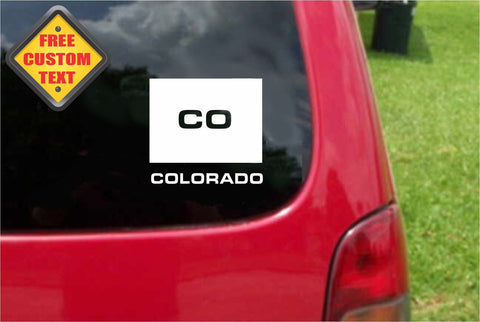 Colorado CO State USA Outline Map Sticker Decal 20 Colors To Choose From.