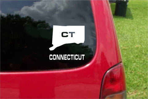 Connecticut CT State USA Outline Map Sticker Decal 20 Colors To Choose From.