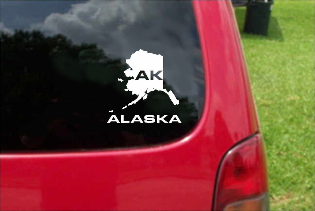 Alaska AK State USA Outline Map Sticker Decal