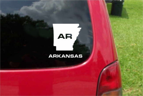 Arkansas AR State USA Outline Map Sticker Decal 20 Colors To Choose From.