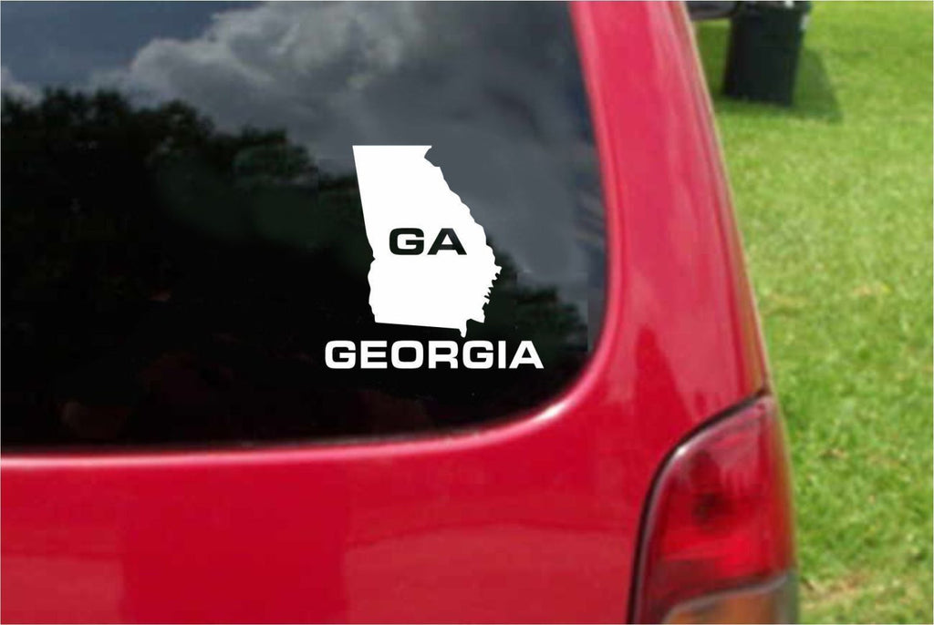 Georgia GA State USA Outline Map Sticker Decal 20 Colors To Choose From.