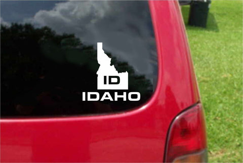 Idaho ID State USA Outline Map Sticker Decal 20 Colors To Choose From.