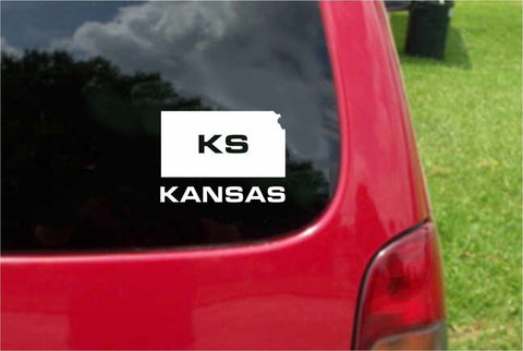 Kansas KS State USA Outline Map Sticker Decal 20 Colors To Choose From.