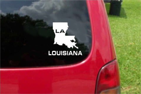 Louisiana LA State USA Outline Map Sticker Decal 20 Colors To Choose From.