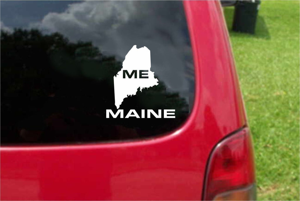 Maine ME State USA Outline Map Sticker Decal 20 Colors To Choose From.