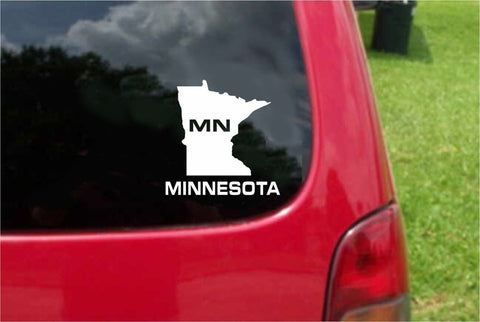 Minnesota MN State USA Outline Map Sticker Decal 20 Colors To Choose From.