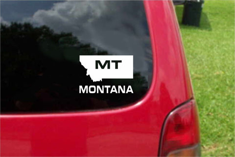 Montana MT State USA Outline Map Sticker Decal 20 Colors To Choose From.