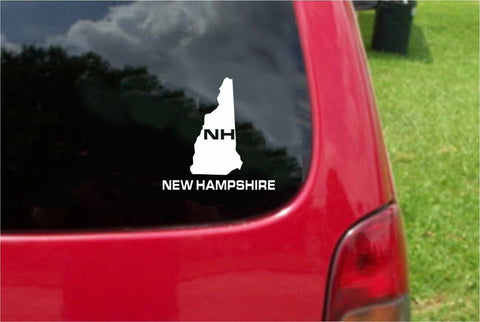 New Hampshire NH State USA Outline Map Sticker Decal 20 Colors To Choose From.