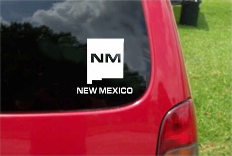 New Mexico NM State USA Outline Map Sticker Decal 20 Colors To Choose From.