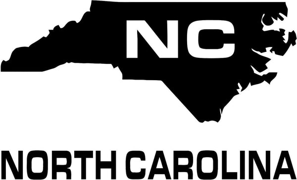 North Carolina Nc State Usa Outline Map Sticker Decal 20