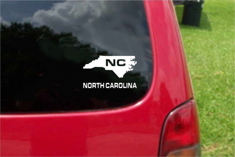 North Carolina NC State USA Outline Map Sticker Decal 20 Colors To Choose From.