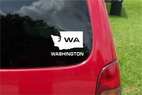 Washington WA State USA Outline Map Sticker Decal 20 Colors To Choose From.