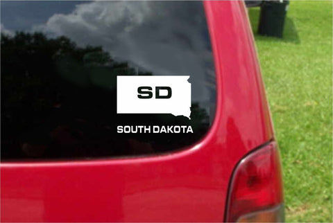 South Dakota SD State USA Outline Map Sticker Decal 20 Colors To Choose From.