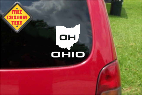 Ohio OH State USA Outline Map Sticker Decal 20 Colors To Choose From.