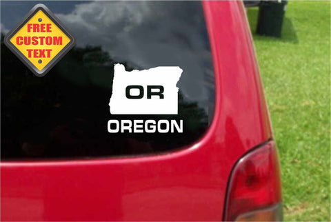Oregon OR State USA Outline Map Sticker Decal 20 Colors To Choose From.