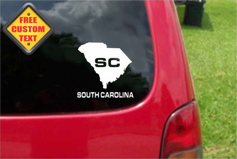 South Carolina SC State USA Outline Map Sticker Decal 20 Colors To Choose From.
