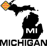 Michigan MI State USA Outline Map Sticker Decal 20 Colors To Choose From.