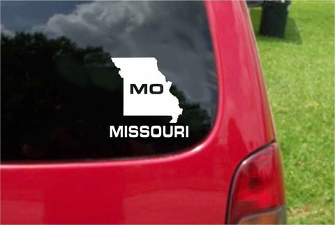Missouri MO State USA Outline Map Sticker Decal 20 Colors To Choose From.