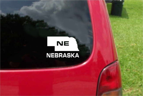 Nebraska NE State USA Outline Map Sticker Decal 20 Colors To Choose From.