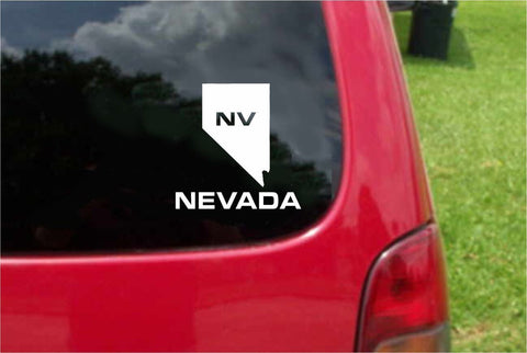 Nevada NV State USA Outline Map Sticker Decal 20 Colors To Choose From.