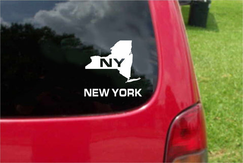 New York NY State USA Outline Map Sticker Decal 20 Colors To Choose From.