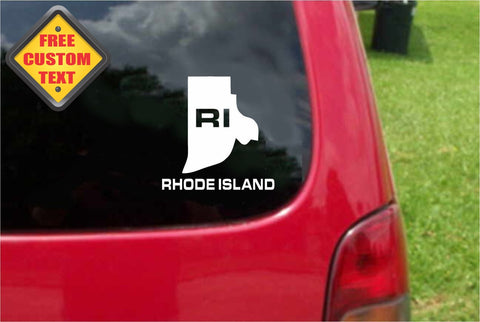 Rhode Island RI State USA Outline Map Sticker Decal 20 Colors To Choose From.