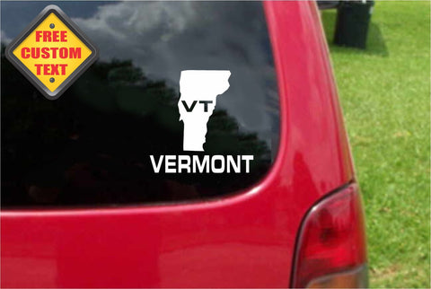 Vermont VT State USA Outline Map Sticker Decal 20 Colors To Choose From.