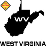 West Virginia WV State USA Outline Map Sticker Decal 20 Colors To Choose From.
